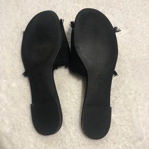 BCBGeneration Shoes - BCBGeneration Size 9.5 Cherry Sandals Black Denim